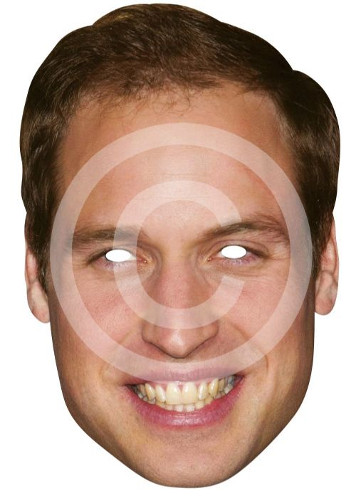 Prince William Card Mask Royal Wedding Fancy Dress Prop